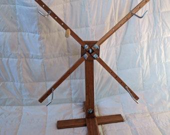 Solid Cherry Yarn Swift/Winder - Freestanding, Upright  vertical