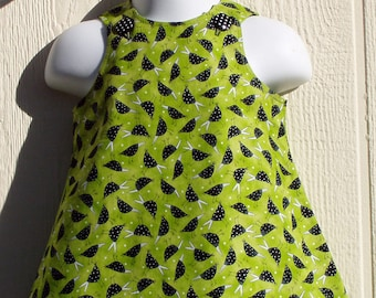 Speckled Blackbirds Aline Baby Dress Size 6 Months