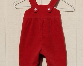 Brick Red Corduroy Rompers Size Small Newborn