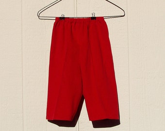 Bright Red Pinwale Corduroy Long Pants Size 6 Months