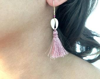 Shell and Tassel Summer Earrings