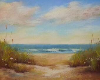 Serene Beach Dune SEASCAPE 18x24 Karen Margulis Florida Art