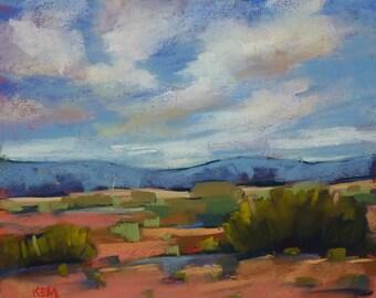 Contemporary Landscape SOUTHWEST Desert Original Pastel Painting 8x10 by Karen Margulis psa
