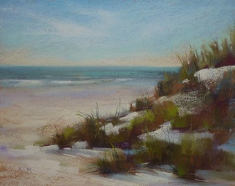 Beach Dune SEASCAPE 11x14 Karen Margulis Florida Art