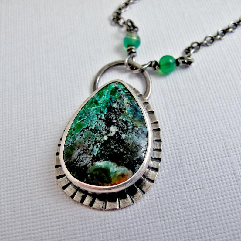 bdc356df1fb5 Collar de jaspe de Sonora Sunrise-plata de ley con piedra
