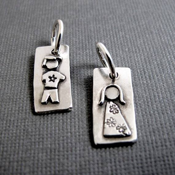 Personalized Mother/'s Figure Charm Sterling Silver Family Charm