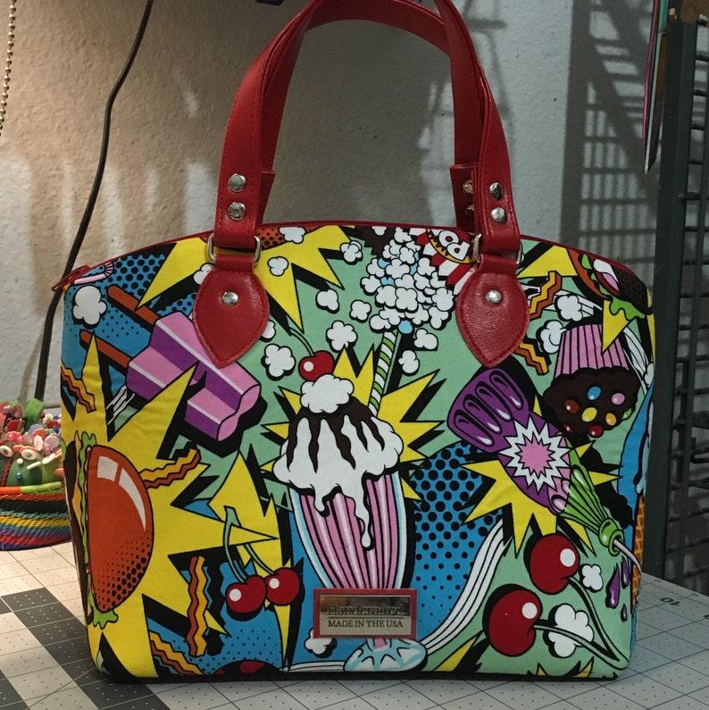 Midnight Snack Domed Handbag Swoon Lola Alexander Henry image 0