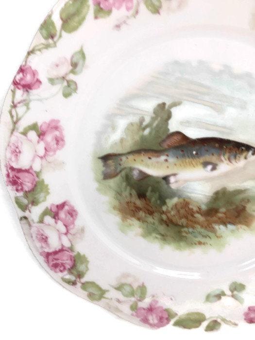 Image 4 of Antique Bavarian Porcelain Dinner Plate