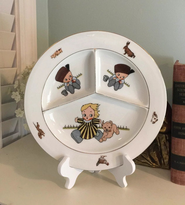 Antique Childs Divided Dish