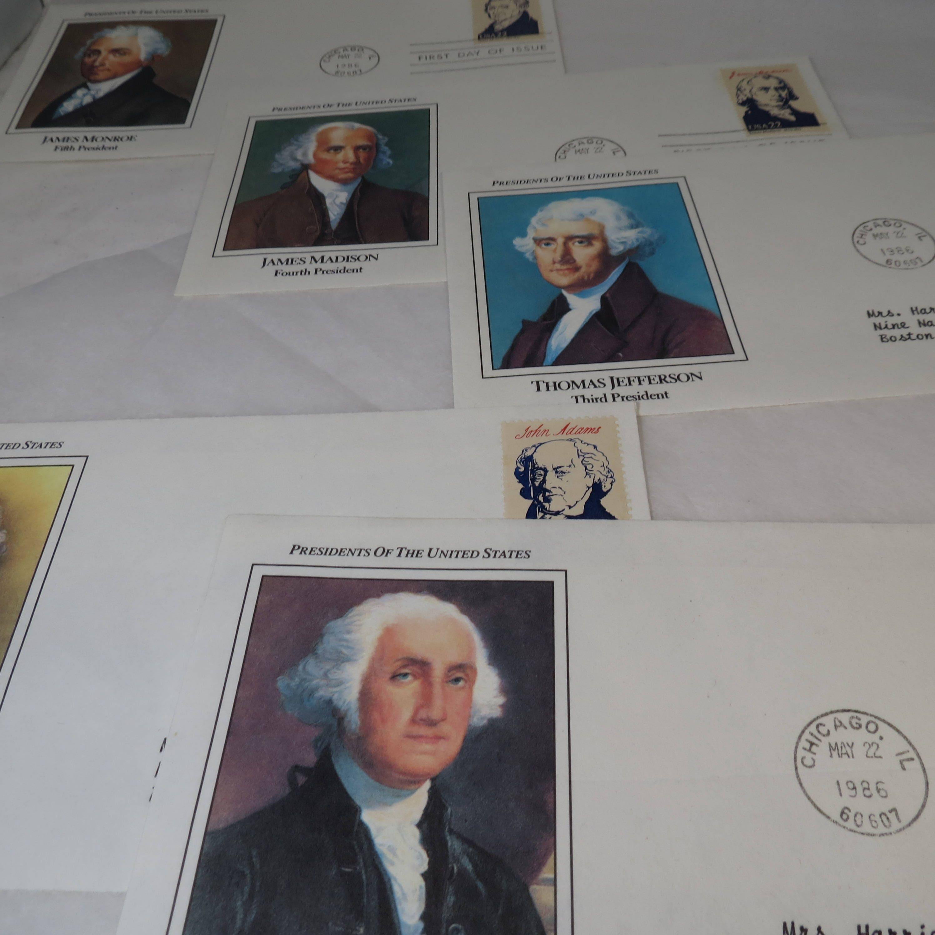 Vintage Postage Stamps Lot