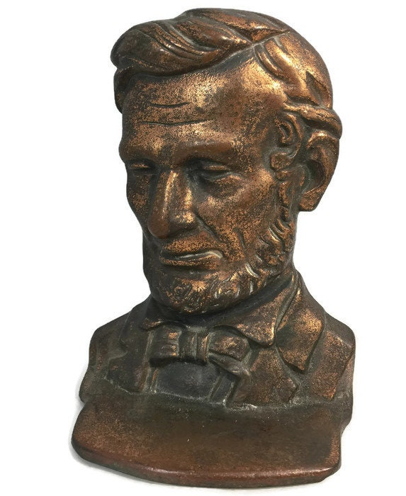 Image 1 of Antique Abe Lincoln Bookends