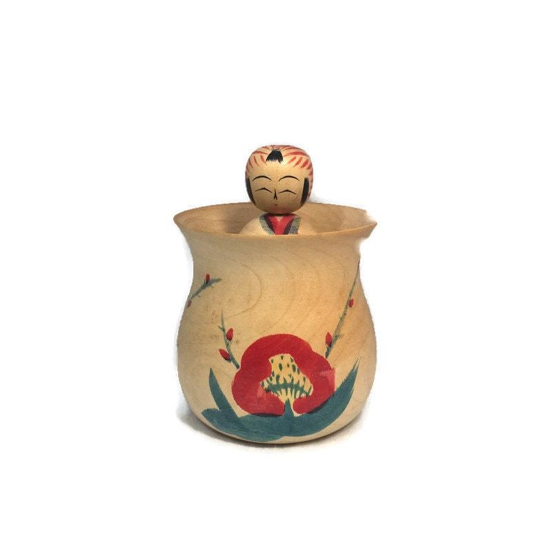 Vintage Kokeshi Jar