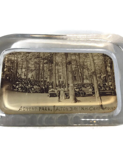 Antique Glass Alton Bay, New Hampshire Paperweight