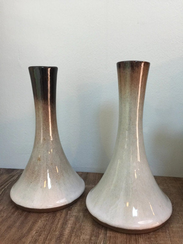 Image 8 of Mid Century Peter Pots Pottery Candleholders