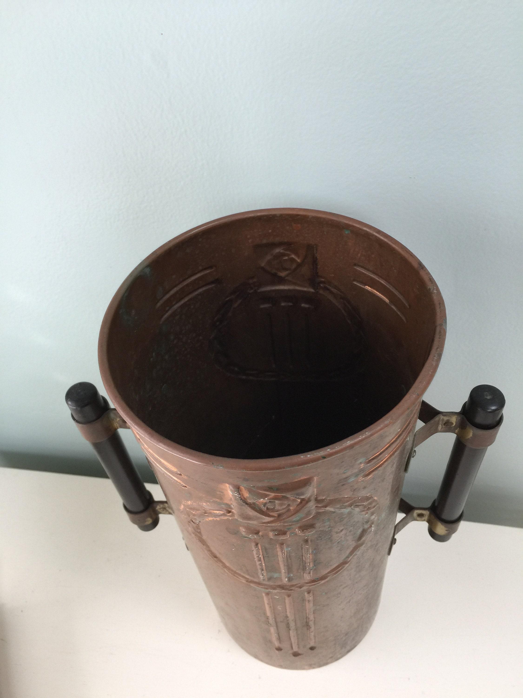 Image 7 of Vintage Copper Arts and Crafts Vase