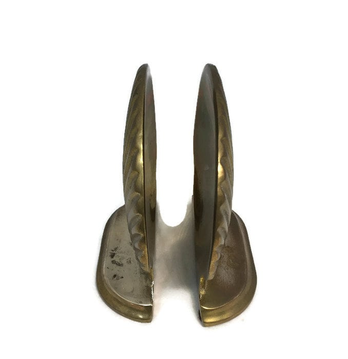 Image 6 of Vintage Brass Shell Bookends