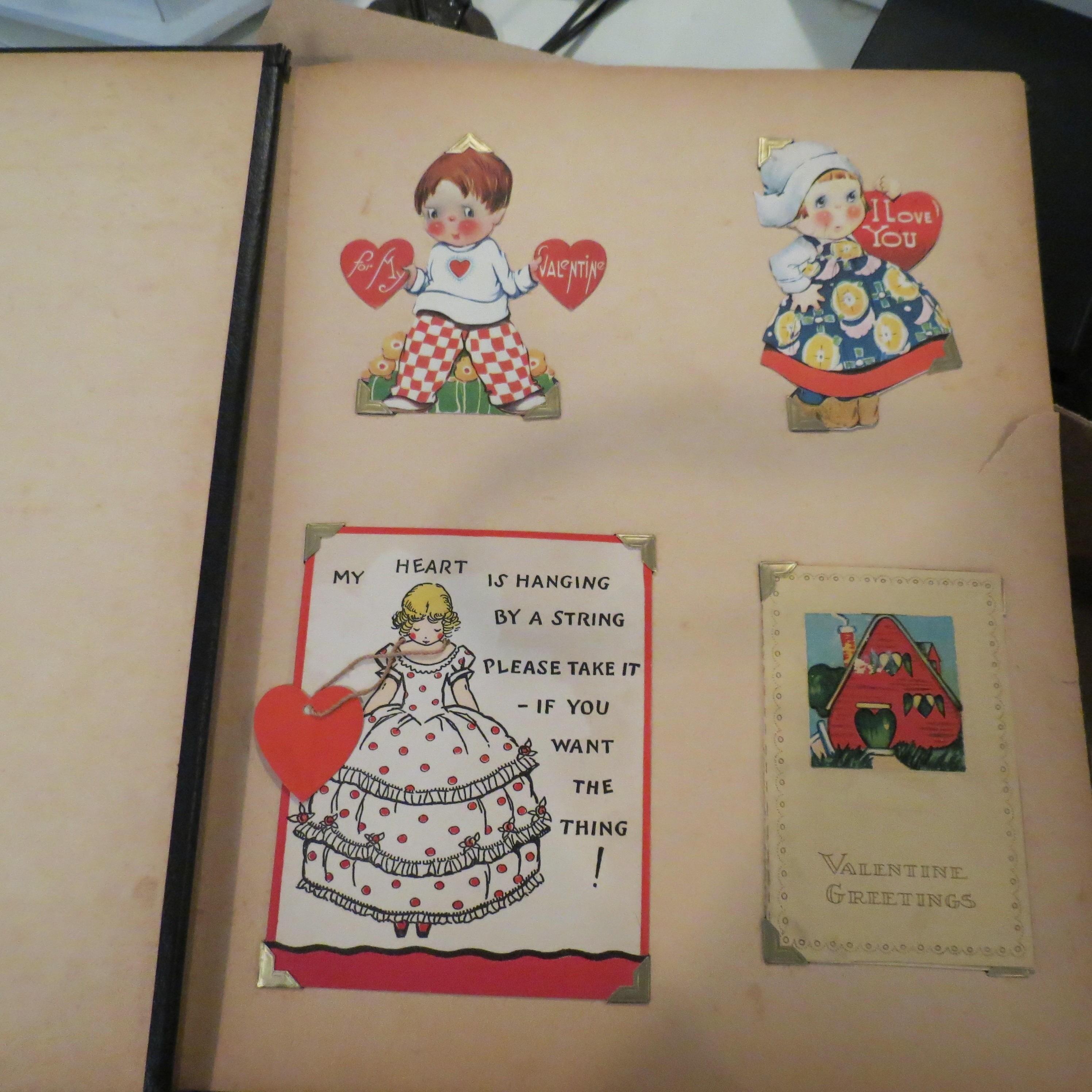 Antique Valentine's Day Cards Scrapbook