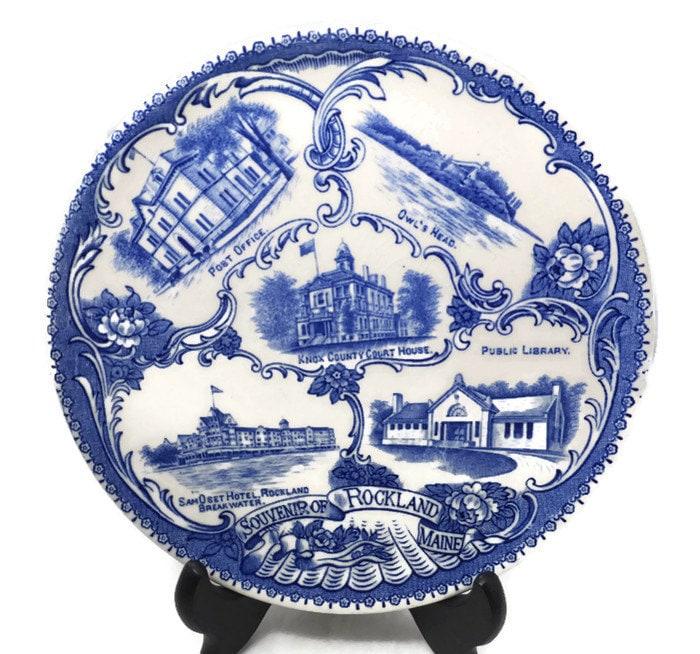 Antique Rockland Maine Souvenir Plate