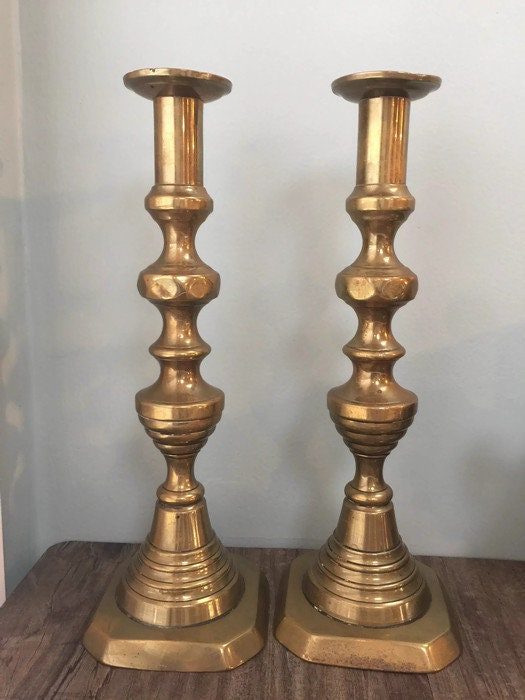 Image 6 of Vintage Brass Push Up Candle Holders