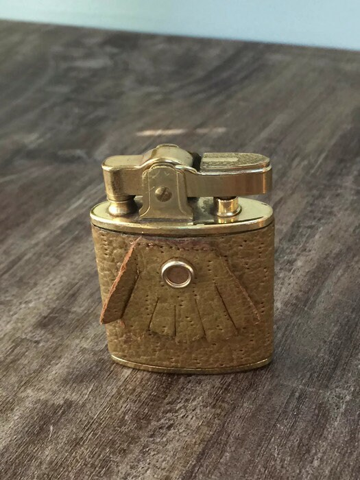Image 6 of Vintage Leather Wrapped Fringed Lighter