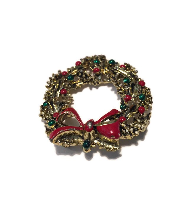 Image 2 of Christmas Wreath Pin