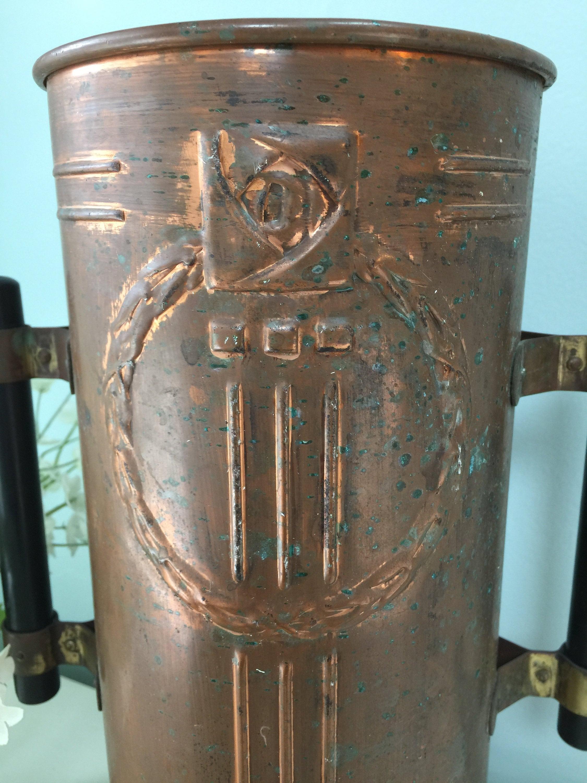 Image 9 of Vintage Copper Arts and Crafts Vase