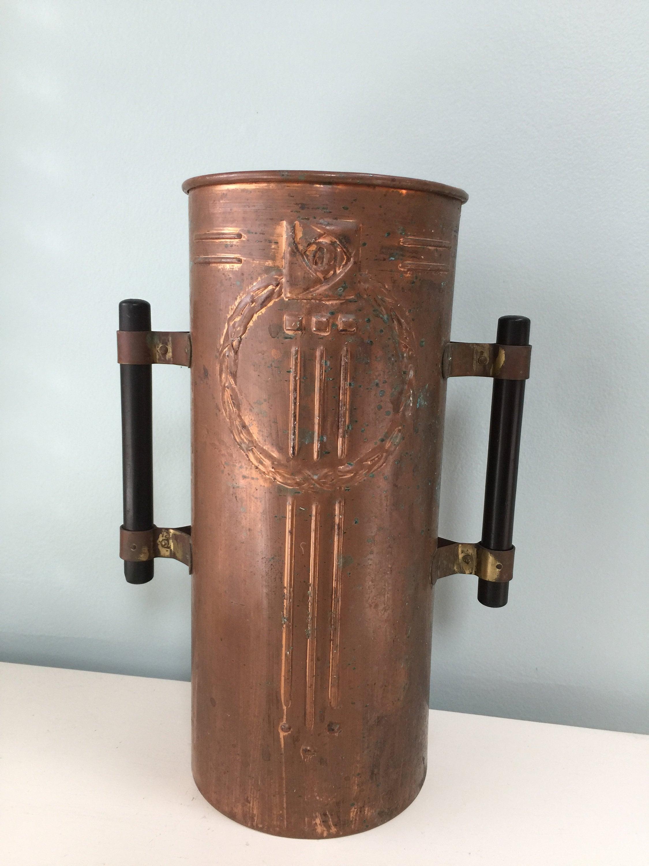Image 6 of Vintage Copper Arts and Crafts Vase