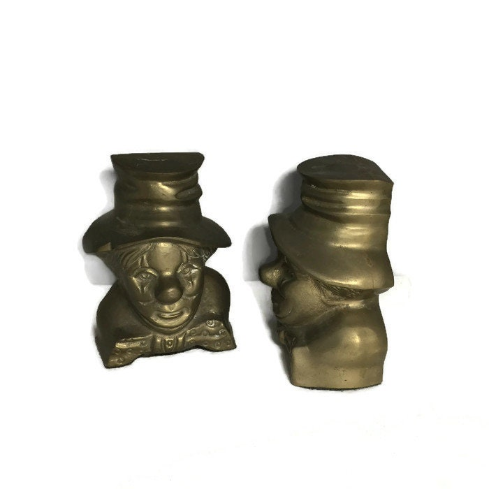 Image 5 of Vintage Clown Bookends
