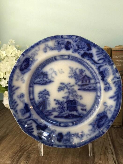 Image 9 of Antique Flow Blue Plate