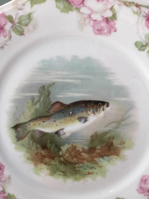 Image 8 of Antique Bavarian Porcelain Dinner Plate