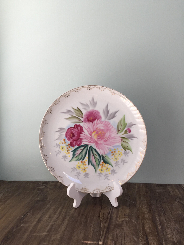 VIntage Floral Porcelain China Plate
