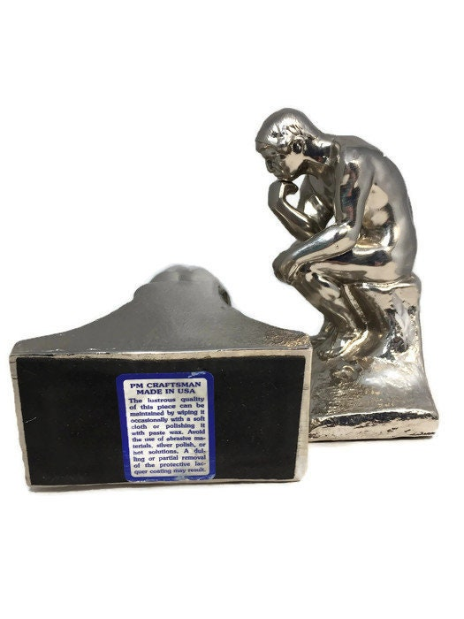 Image 3 of Vintage The Thinker bookends
