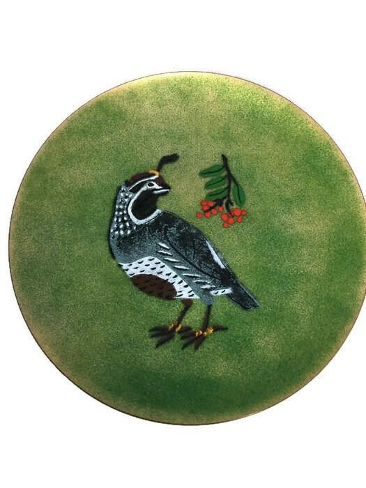 Image 9 of Vintage Enamel on Copper Christmas Plate