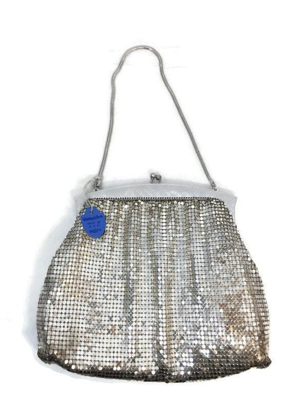 Mid Century Whiting and Davis Silver Mesh Purse