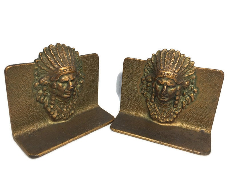 Image 7 of Vintage Indian Chief Bookends