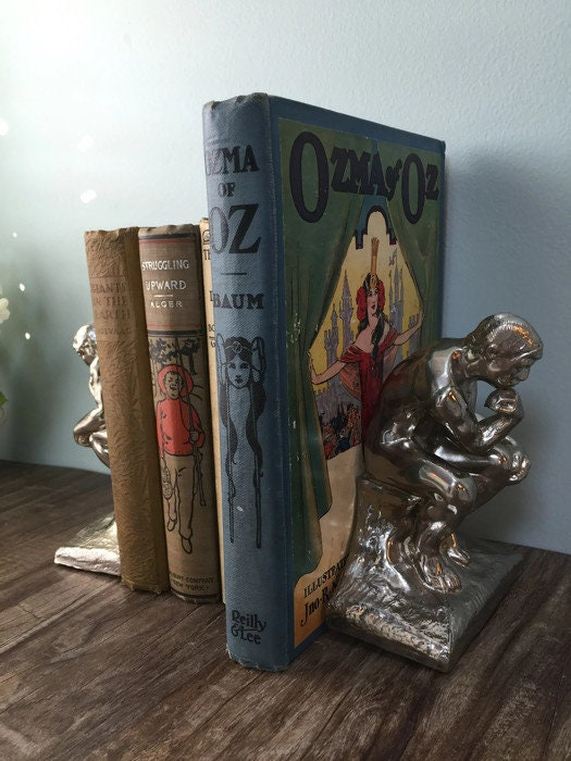 Image 7 of Vintage The Thinker bookends