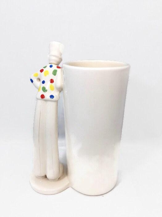 Image 3 of Vintage Circus Clown Vase