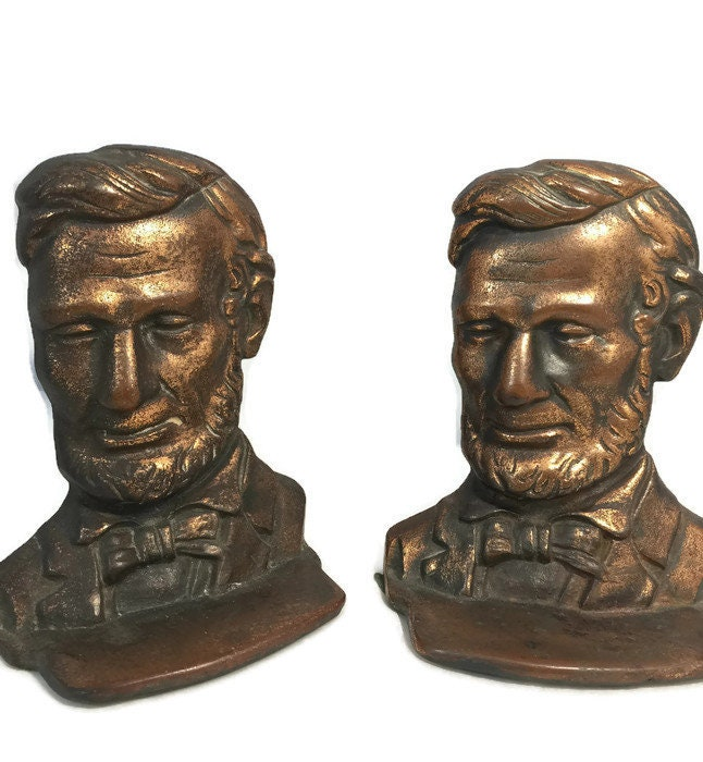 Image 5 of Antique Abe Lincoln Bookends