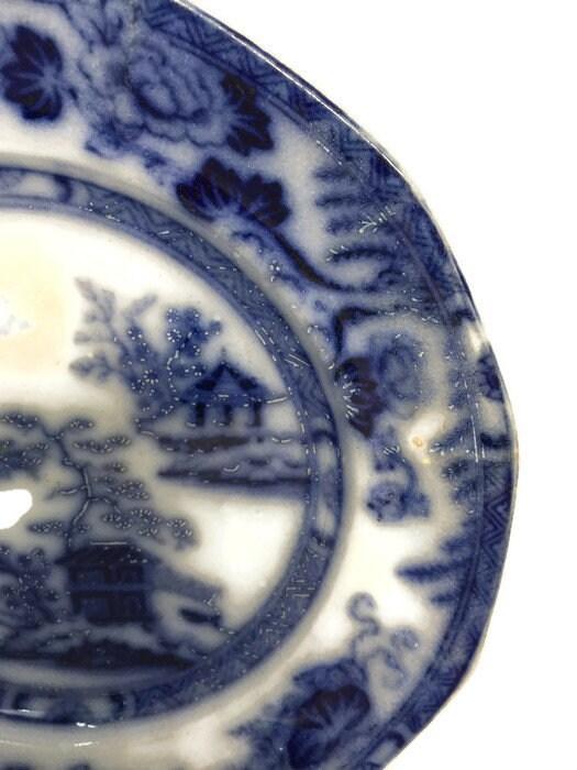 Image 3 of Antique Flow Blue Plate