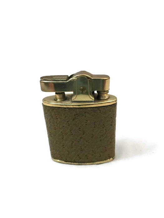 Image 2 of Vintage Leather Wrapped Fringed Lighter