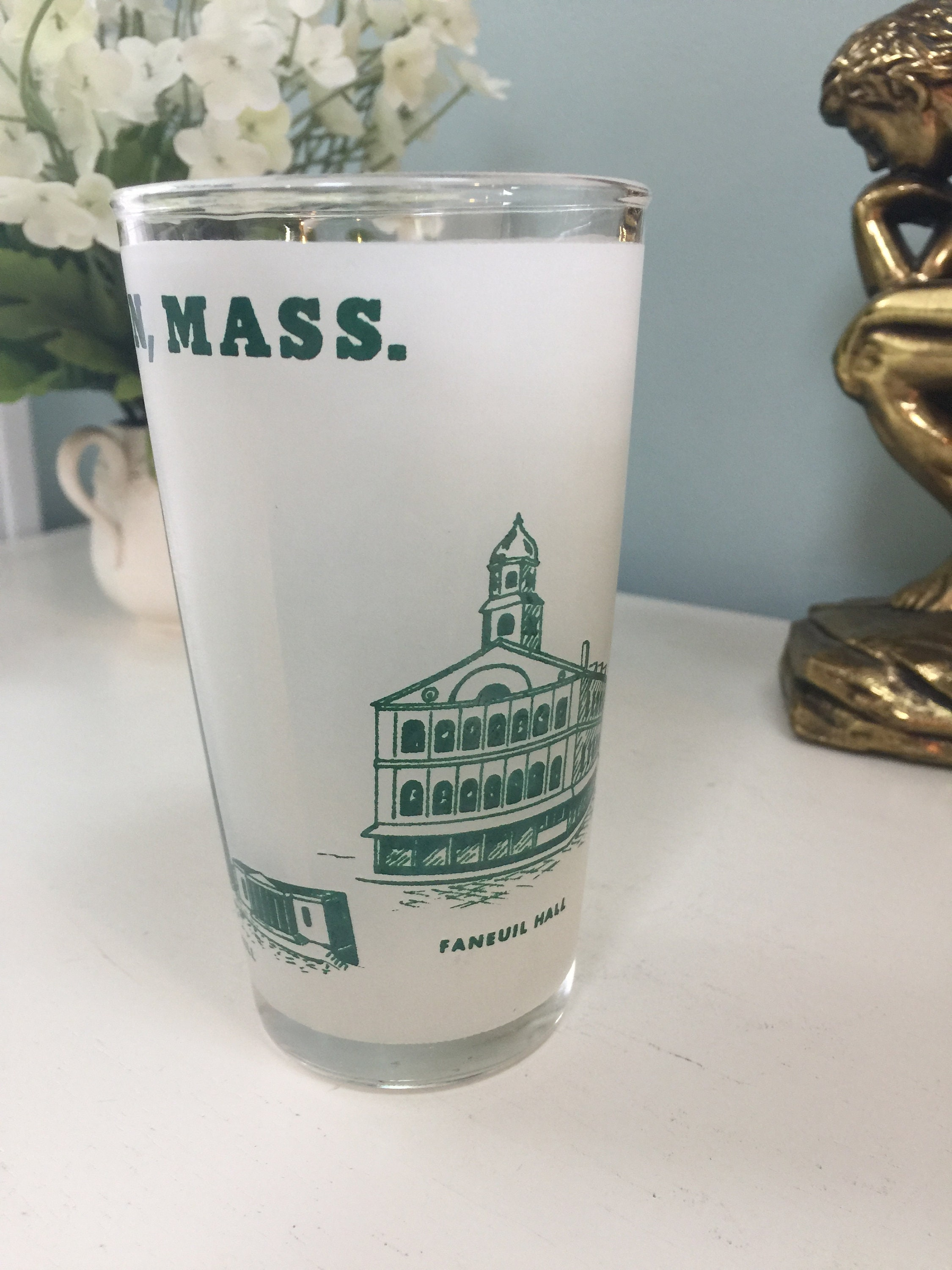 Image 5 of Vintage Boston Massachusetts Souvenir Glass