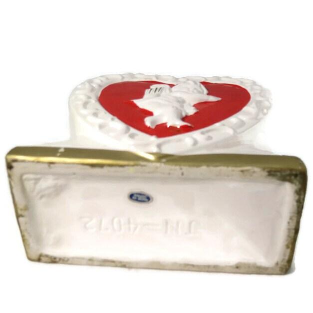 Image 3 of Vintage Valentine's Day Ceramic Planter