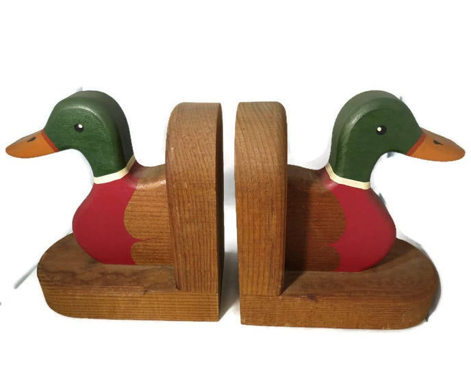 Image 2 of Vintage Duck Bookends