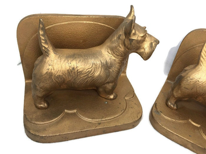 Image 3 of Vintage Scottie dog Bookends