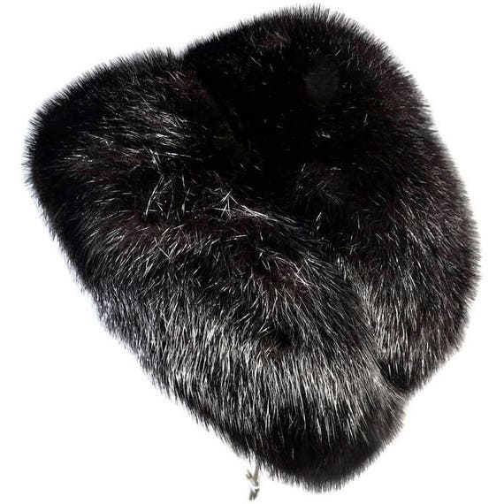 Vintage Dior Fur Hat Christian Dior chapeaux Paris New  3cd47c1de05