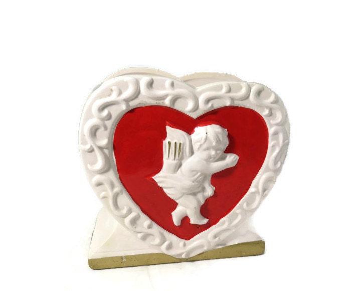 Image 0 of Vintage Valentine's Day Ceramic Planter