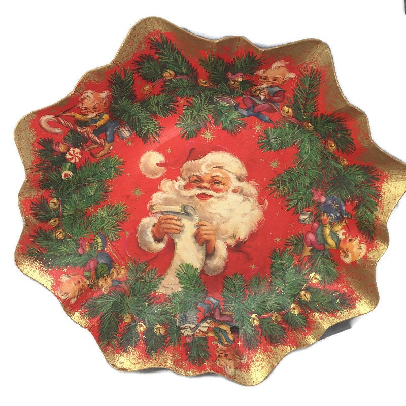 Midcentury Western Germany Christmas Paper Bowls