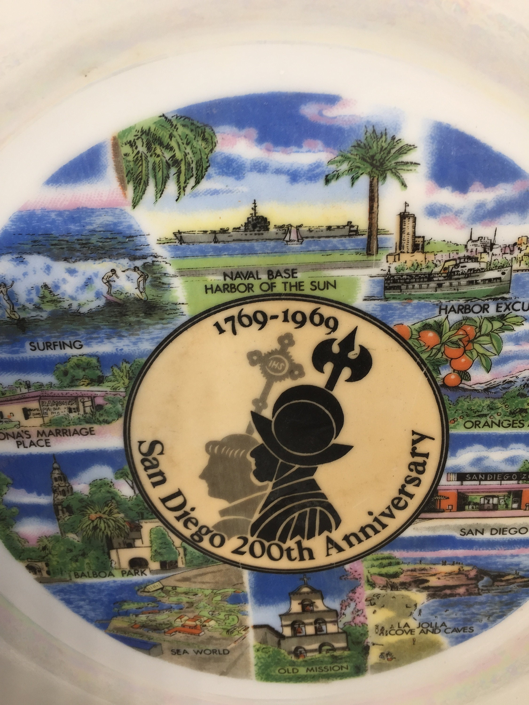 Image 7 of Vintage San Diego Souvenir Plate