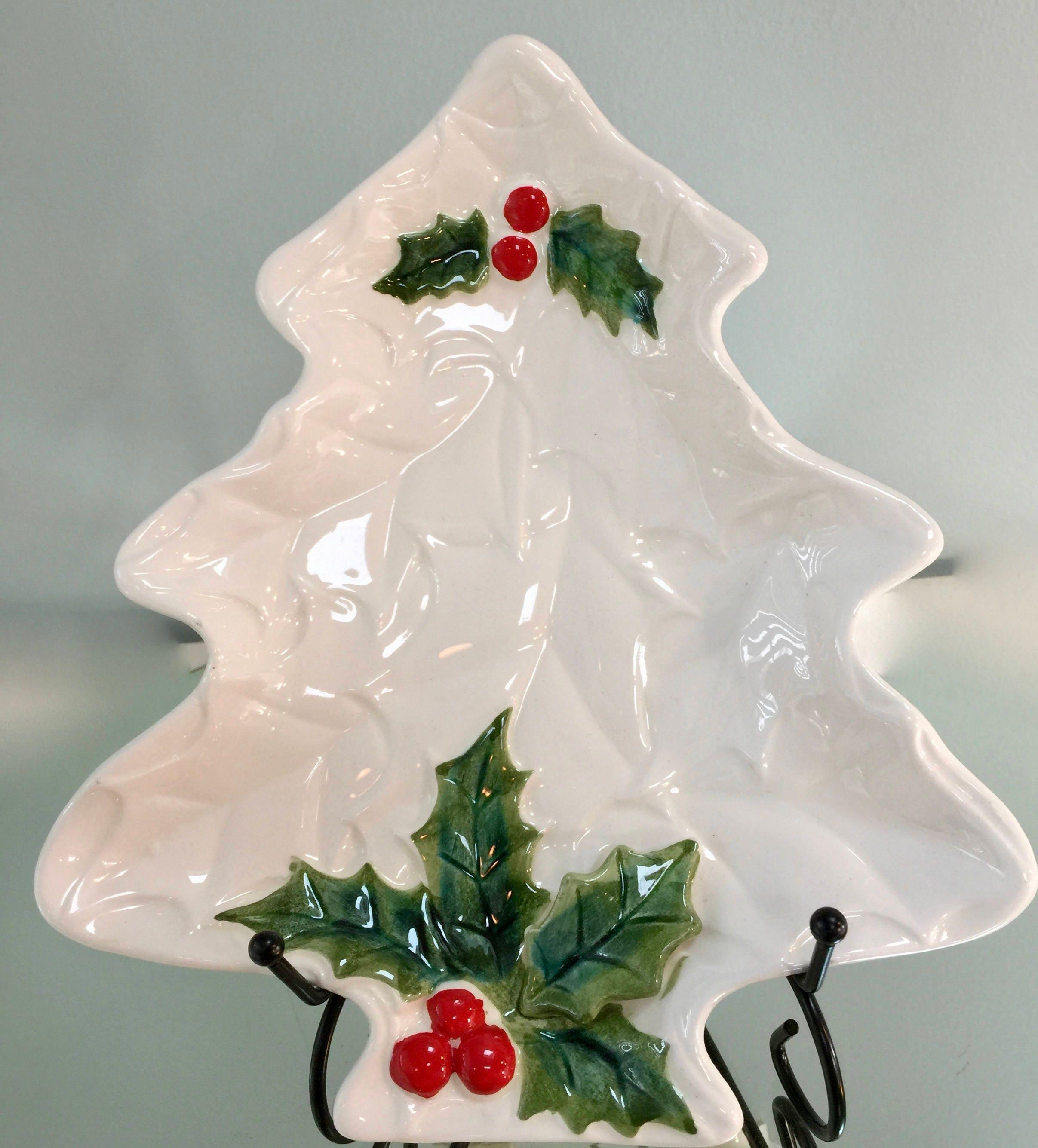 Christmas Tree Ceramic Dish