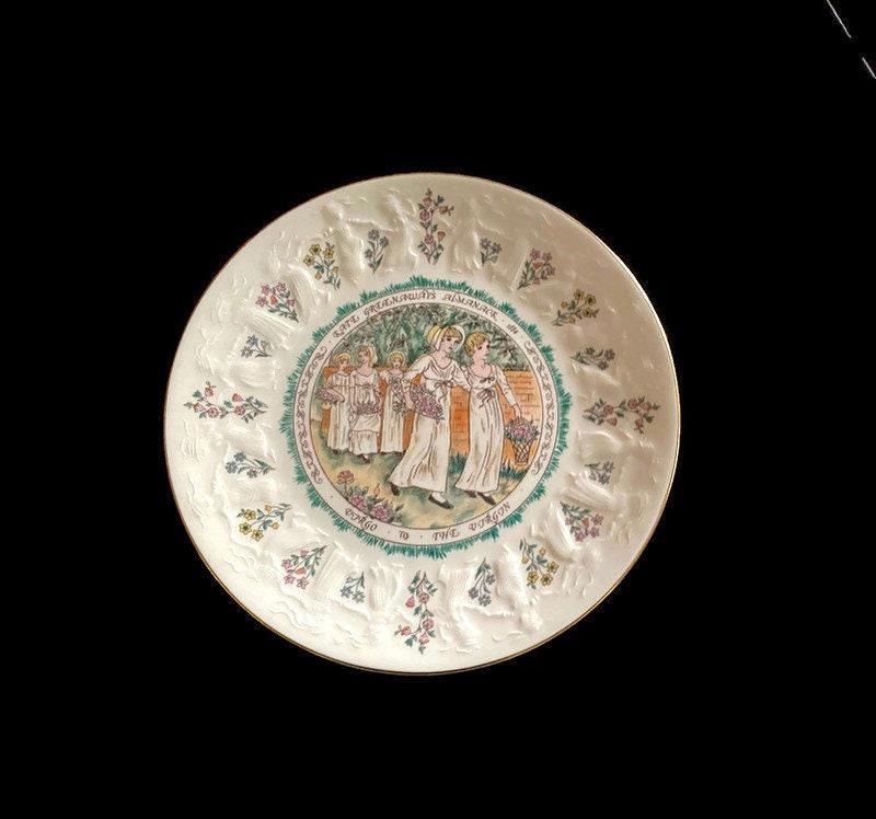 Vintage Kate Greenaway's Almanack Plate Virgo the Virgin